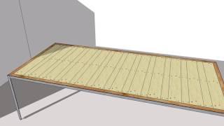 Eettafel met oude Europalet planken