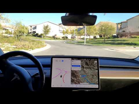Model 3 - Beta FSD - Improved roundabout performance - 2020.48.35.1 - 17 Jan 2021