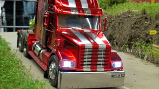 Big RC Truck Action / amazing US Truck/1:14 scale / big Semi trucks in action