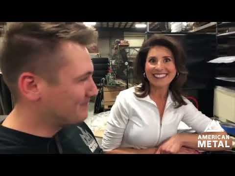 Tour of the Metal Fabrication Shop with Beth - FB Live - American Metal TV
