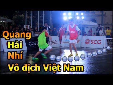 Thử Thách Bóng Đá Quang Hải nhí đánh bại Messi hà nội lên ngôi vô địch tài năng nhí Việt Nam