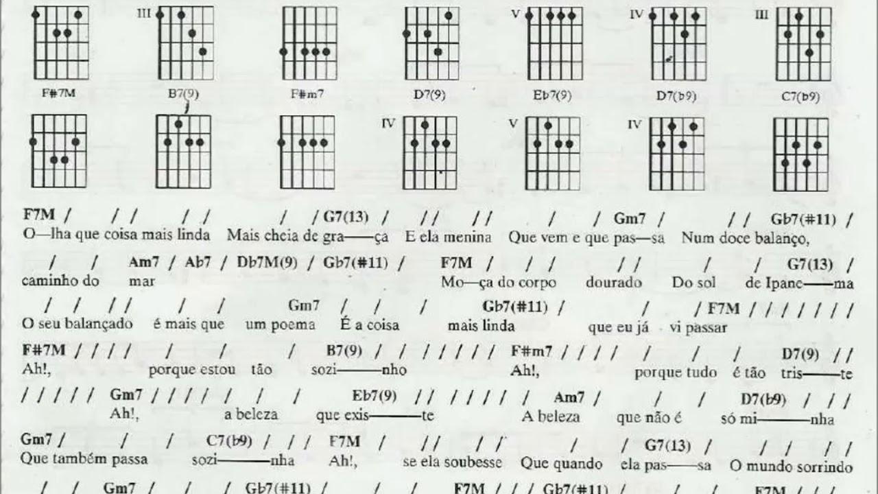 Girl from ipanema chords beginner