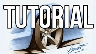 Tutorial - How to draw a car wheel - by Adonis Alcici