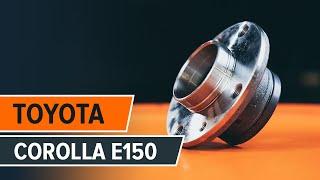 Как се сменя Комплект принадлежности, дискови накладки на COROLLA Saloon (E15_) - видео наръчници стъпка по стъпка