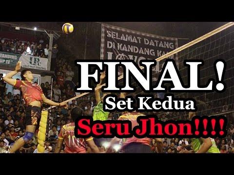 Agung Seganti, M Zainudin, Sigit Hermanto vs Putu Randu, Ady Firmansyah, Suarnata - set kedua