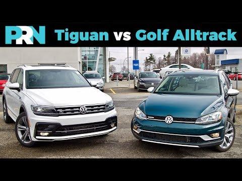 2019 Volkswagen Tiguan R-Line vs Golf Alltrack