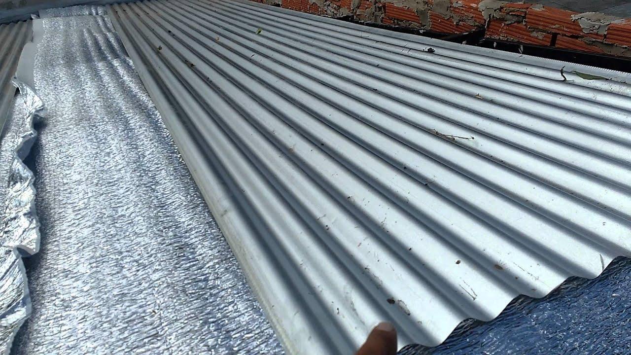 Techo de chapa 2 sin calor muy fresco con poca dif youtube - Se puede pintar el aluminio ...