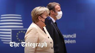 video: Merkel faces down Macron over 'Polexit' at last summit
