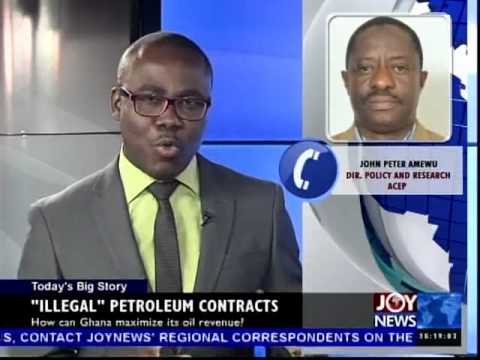 Illegal Petroleum Contracts - Today's Big Story on Joy News (7-8-14)