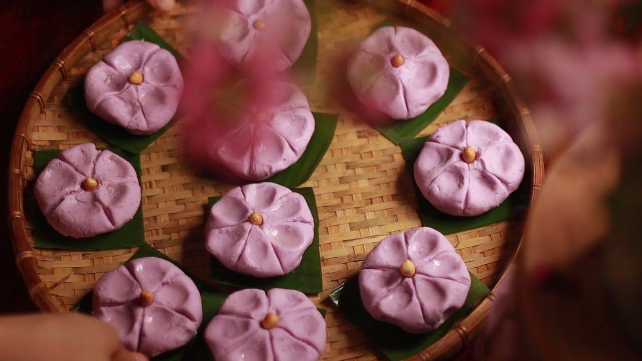 Làm một ít bánh khoai mỡ hấp từ những củ khoai giống | Dumpling yam