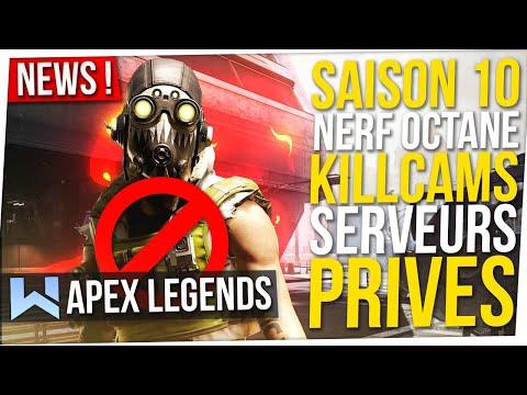 Apex News : Teaser S10, Nerf Octane, Serveurs Privés pour Tous, Killcams, Derank, Buff Gibby...