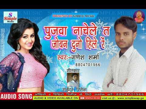 2018 का सुपर हिट सॉग:-पुजवा नाचेले त जोबन दुनो हिले रें:-singer(Ganesh Sharma)ka super hit song