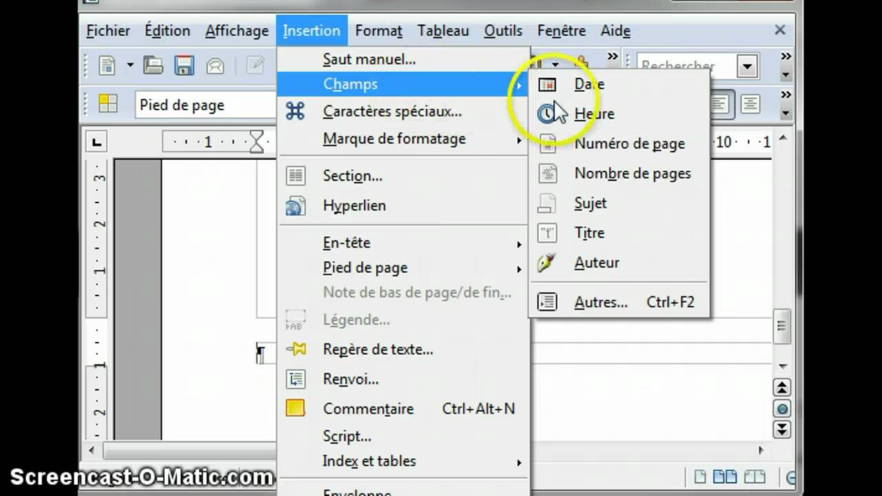 libre office comment faire mise en page cv