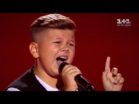 "Illya Bortkov ""I can't feel my face"" – Blind Audition – Voice.Kids – season 3"