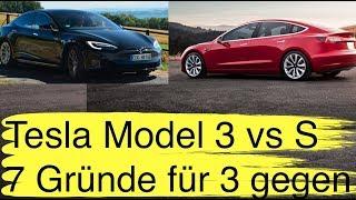 Meine 7 Gründe für den Wechsel zum Model 3 vom Tesla Model S und 3 die dagegen sprechen