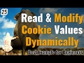 Read and  modify PHP cookie values dynamically in hindi | Learn PHP in Hindi / Urdu