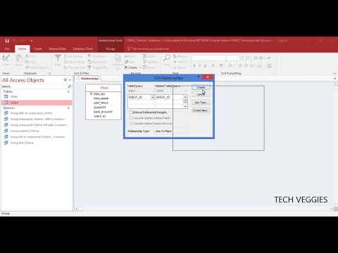Creating Relationships between tables in MS Access | Tech Veggies