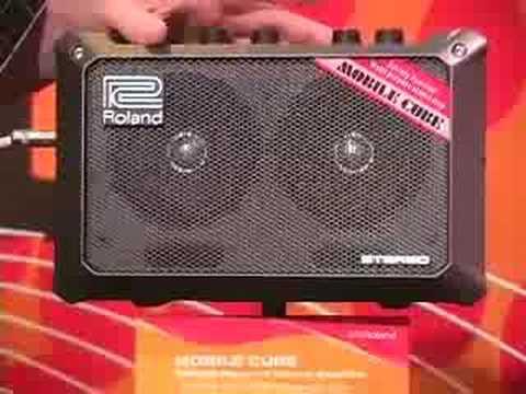 sweetwater roland mobile cube amplifier summer namm demo youtube. Black Bedroom Furniture Sets. Home Design Ideas