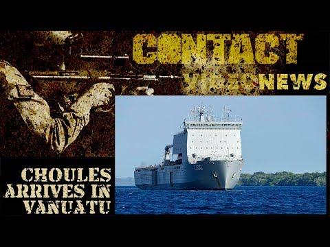 Operation Vanuatu Assist 2017 – HMAS Choules arrives