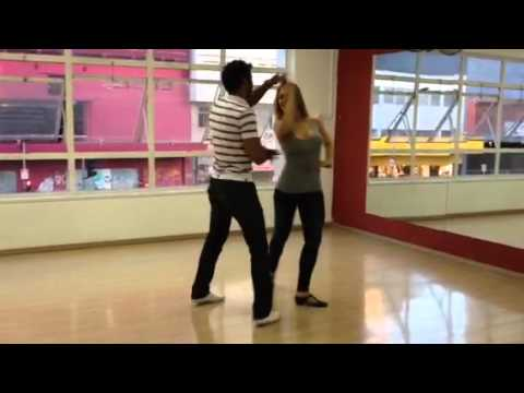 Sheila Mello e Rodrigo Oira treinando zouk