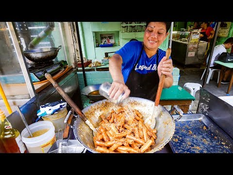 Philippines Food in Manila - Best BANANA EGG ROLLS (Turon) at Mang Tootz Food House!