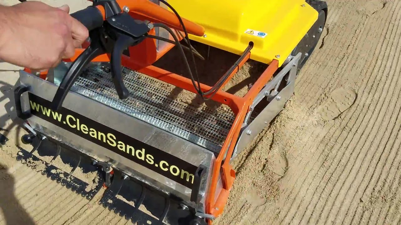 Beach Cleaner - Beach Cleaning - Walk Behind Model with Track drive - Less Vibrations to arms