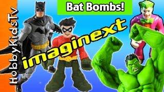 BAT CAVE Encounter! Imaginext Hulk Vs Batman RobinHobbyKidsTV