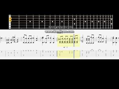 Rammstein - Mutter # Acousti tabsc guitar lesson note