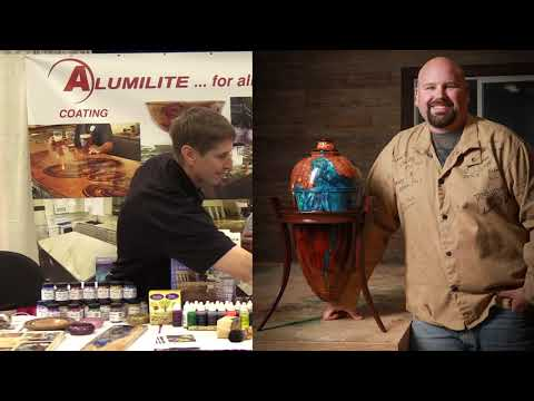 Alumilite Two-Part Epoxy and Urethane with Mike Faupel at Woodcraft's Trade Show 2019