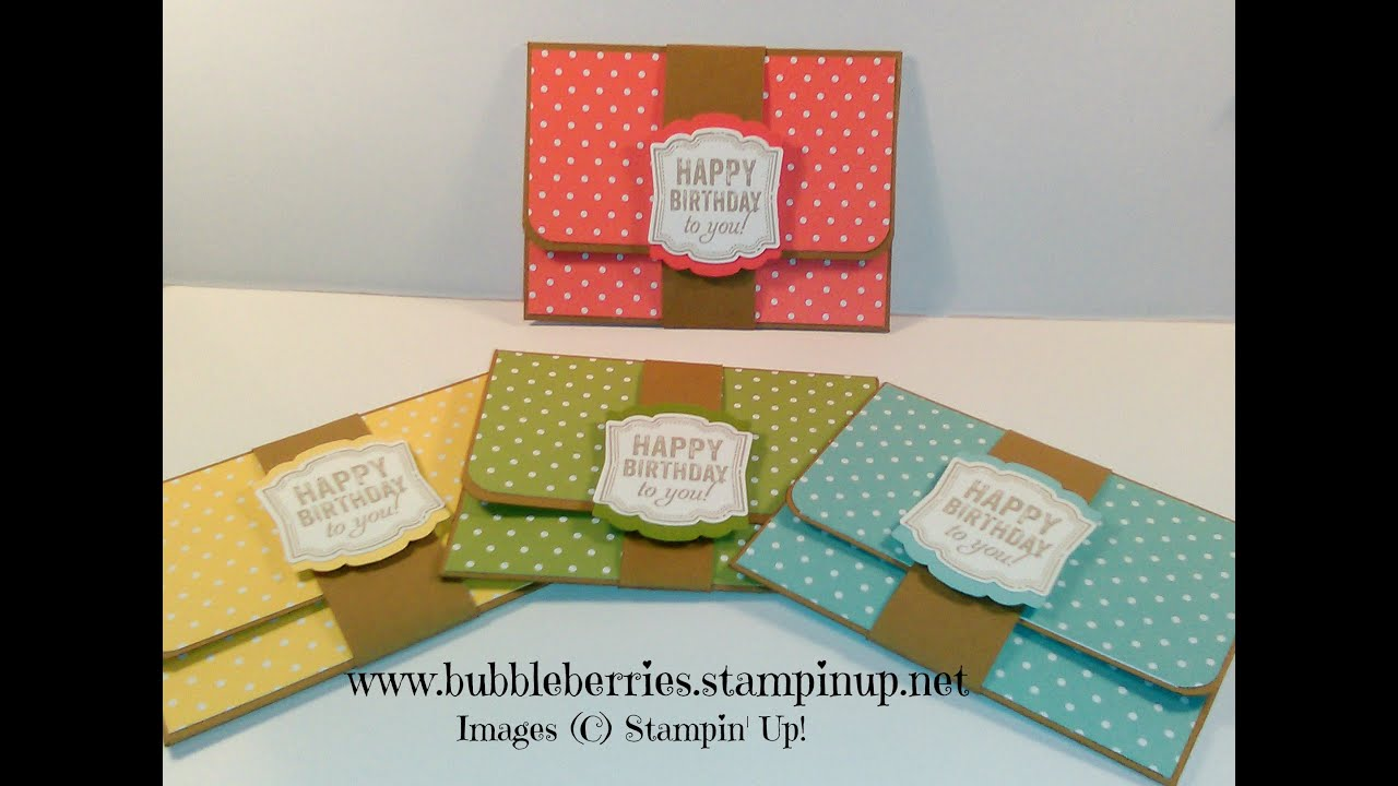 Quick and Easy Gift Card/Money Wallet using Stampin' Up ...