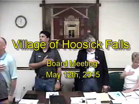 2015 - May 12th Board Meeting - Village of Hoosick Falls