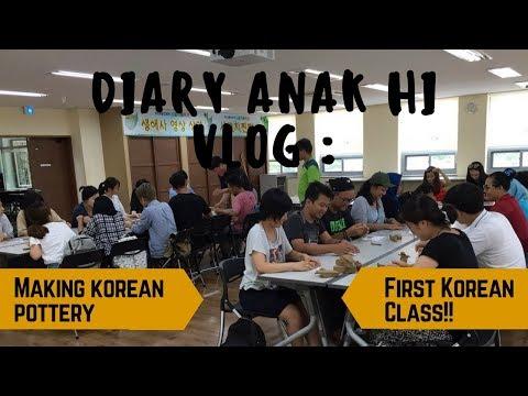 Diary anak HI VLOG : Belajar bahasa korea & Bikin gerabah ala Korea