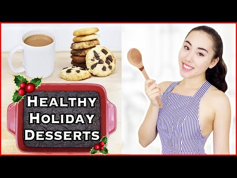 🎄 Healthy Christmas Dessert Recipes | Low Sugar, Vegan, & Gluten-Free Treats! 🍪