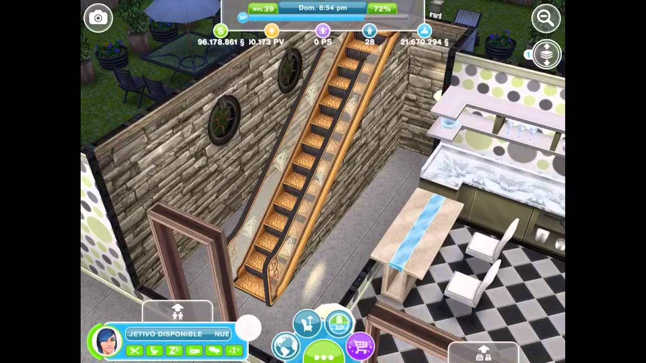 Sims freeplay ideas de casas 2 plantas youtube for Casa de diseno the sims freeplay