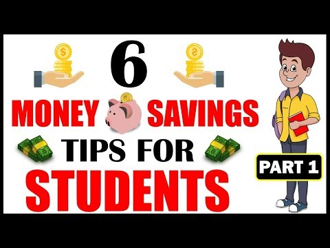 6 SIMPLE AND EASY MONEY SAVING TIPS FOR STUDENTS|EASY MONTHLY SAVINGS FROM POCKET MONEY (PART 1)