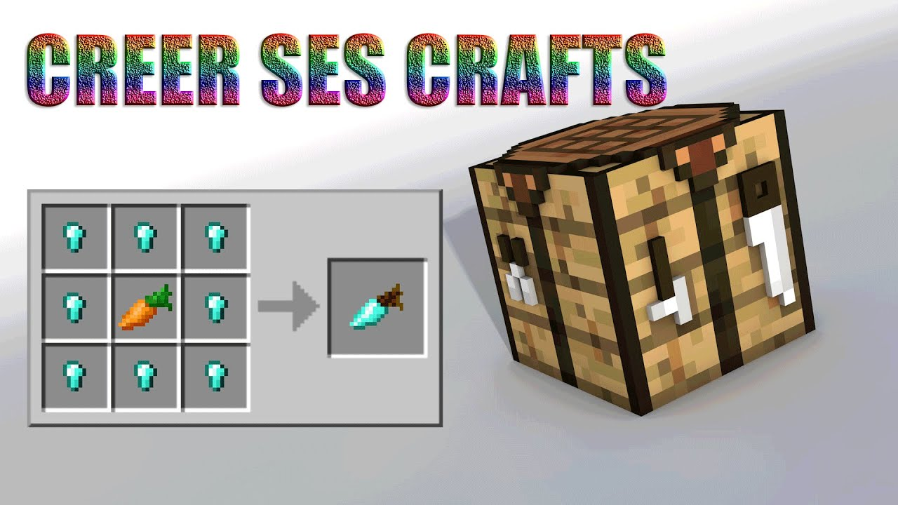 how to make minecraft crafts