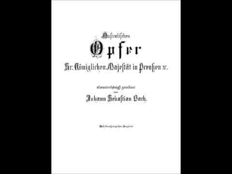 Karaoke - Musical Offering: Trio Sonata - J.S. Bach (for violin, flute and cello)
