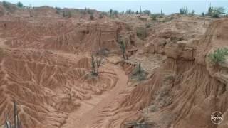 Deserto de Tatacoa, Columbia - drone view