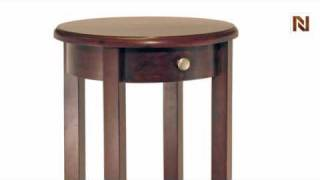 Winsome Concord Round Accent Table With Drawer And Shelf 94220
