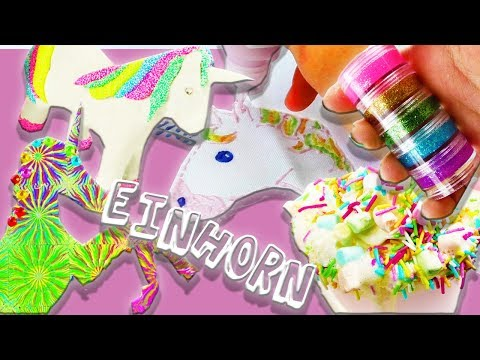Top 5 Einhorn DIY Ideen | Unicorn Snot | Cooles Shirt | Einhorn-Kakao | Geburtstagskarte | Silk Clay