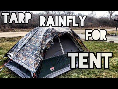 Tarp rainfly for tent