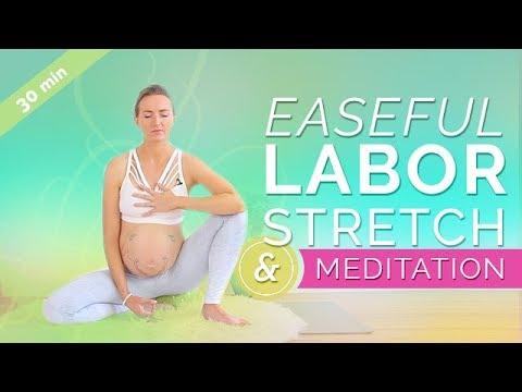 Prenatal Yoga Third Trimester Easeful Labor Stretch Meditation 30 Min Pregnancy Meditation Youtube