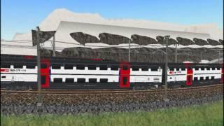 新VRM3★スイス国鉄IC2000二階建客車+Re460牽引機関車