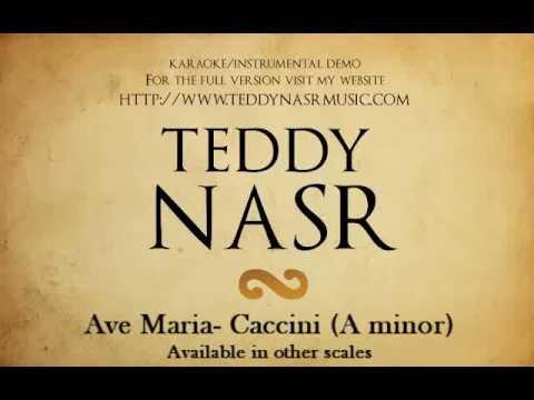 Instrumental / Karaoke - Ave Maria (Caccini) DEMO ( Teddy NASR )