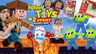 MINECRAFT TOY STORY 4 FLOOR is LAVA! FGTeeV Boys & Dorky FORKY (Part 2 Granny Mashup)