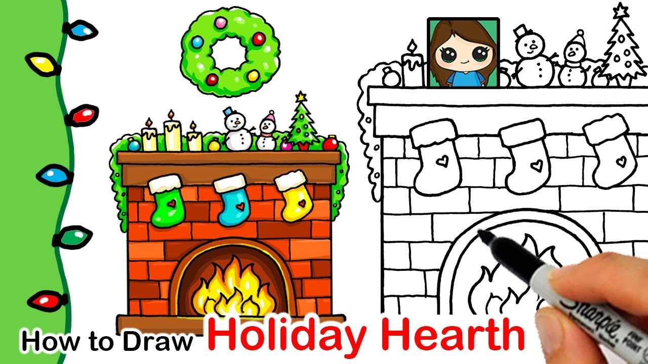 How To Draw A Holiday Hearth Christmas Series 10