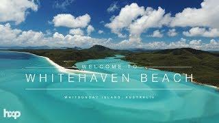 Australia - Whitehaven Beach at Whitsundays by Drone 4k