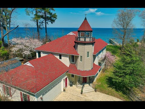 Chesapeake Bay Waterfront Home in Saint Mary's County is a Custom Designed Lighthouse Style Home