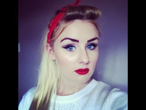 50s style hair and makeup pin up 50 s inspired makeup and hair tutorial 1200