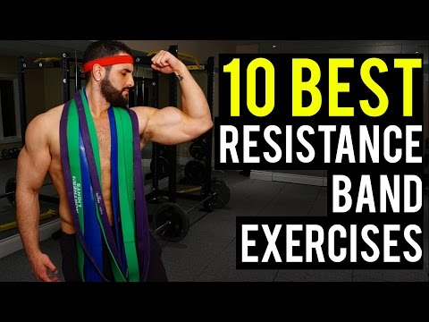 10 Best Resistance Band Exercises to Build Muscle (Target Every Muscle!!)